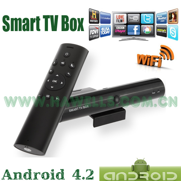 Russia Set Top Box with Android 4.2 System Built-In Camera and Air Mouse WiFi for Skype  Dual Core