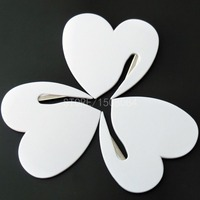 10Pcs Portable Plastic Letter Knife Heart Shape Mail Envelope Opener Safety Paper Guarded Cutter Blade For