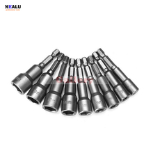 2 sets/Lot _ 9pcs 6-14mm CR-V Hex Magnetic Power Socket Nut Setters