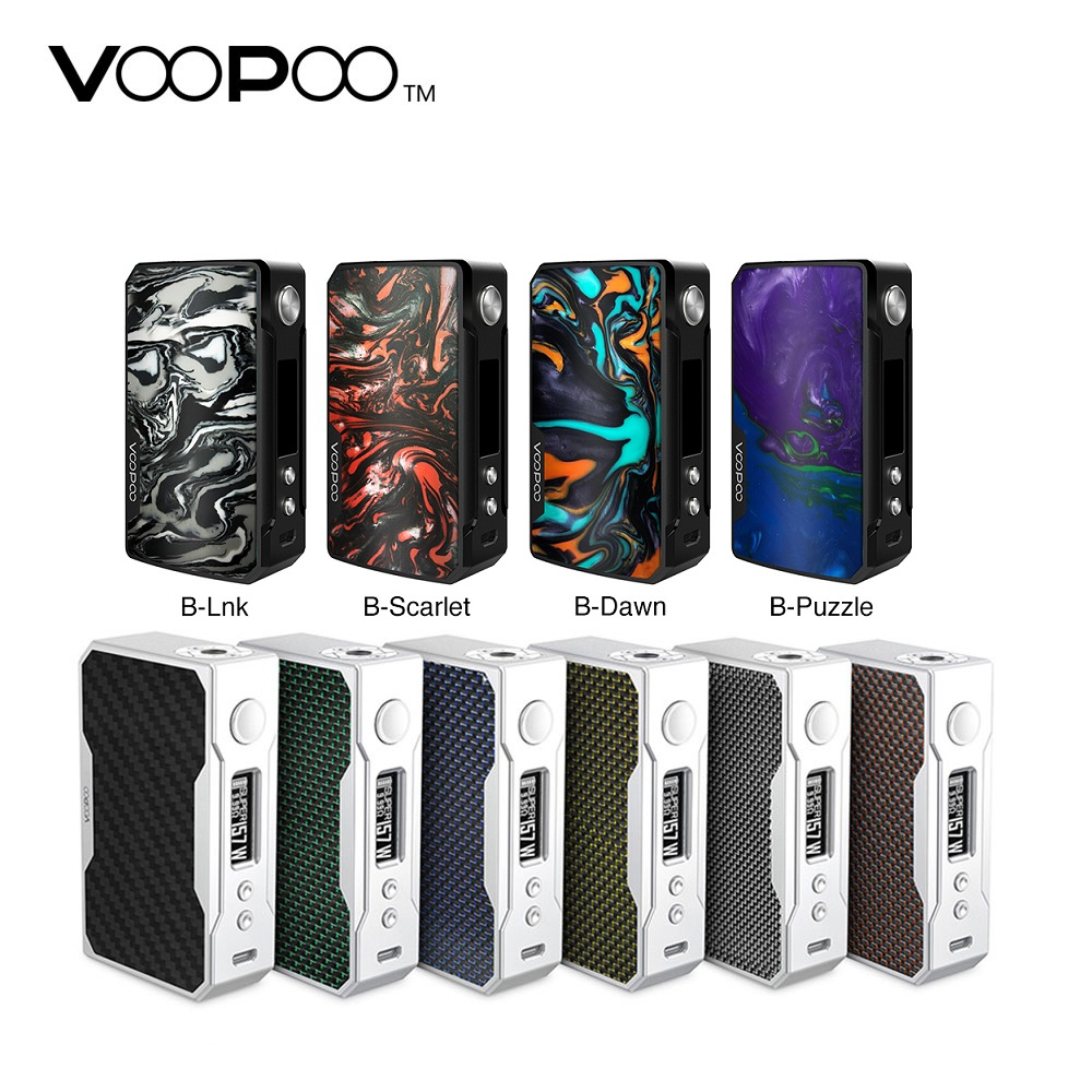 Original VOOPOO arrastrar 2 177W TC caja MOD E-cigarrillo y 157W arrastrar caja Mod w/ nos GENE chip No 18650 Vape batería caja Mod del LUXE/GEN/