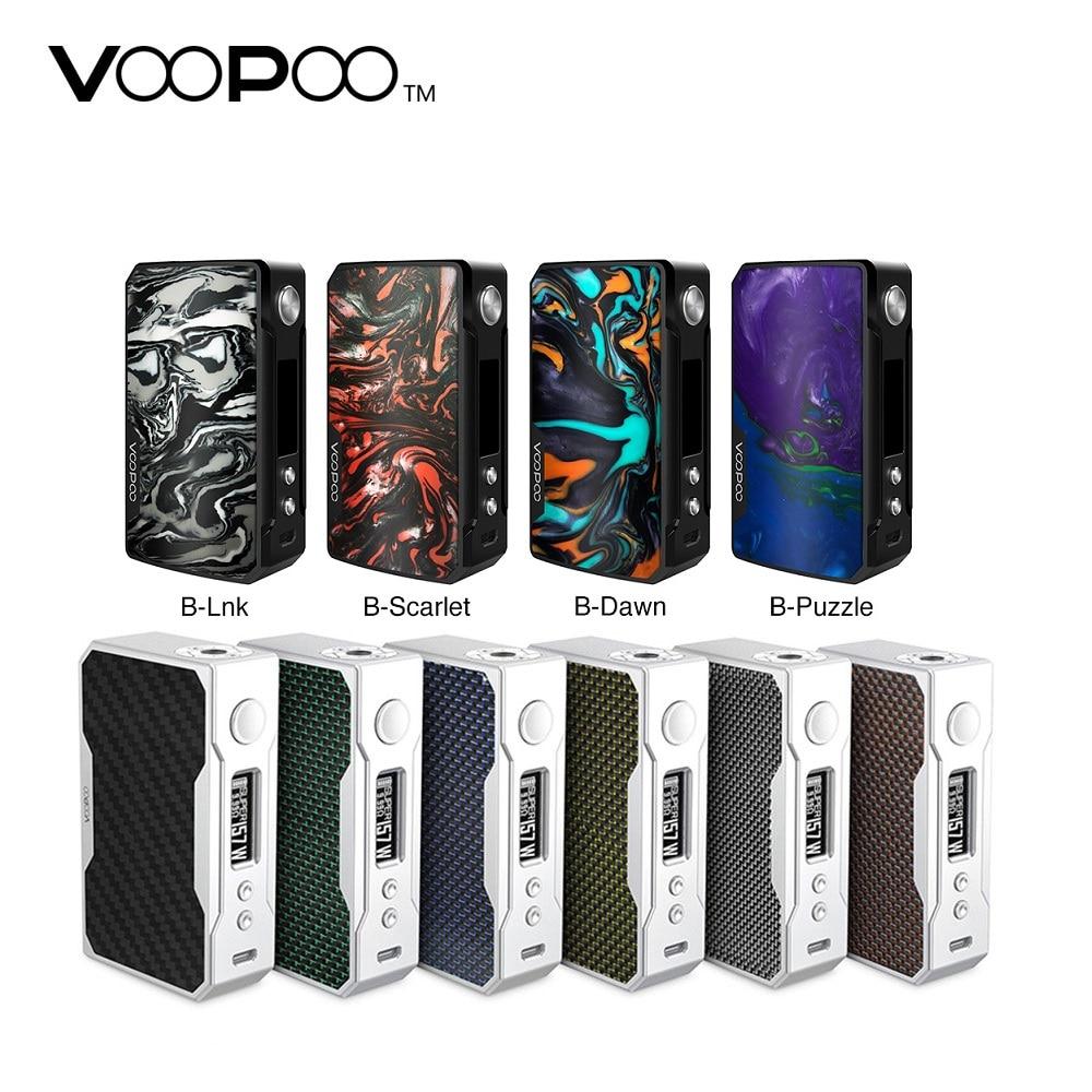 Original voopoo arrastar 2 177 w tc caixa mod e-cigarro & 157 w caixa de arrasto mod w/us gene chip sem 18650 bateria vape caixa mod vs luxe/gen