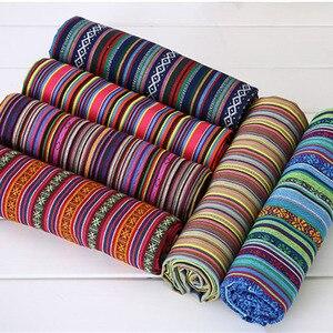 Image 1 - 新しい100X150CMポリエステル/綿生地エスニック装飾織物ソファカバークッション布カーテン22スタイル送料無料