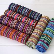 Nowy 100X150CM poliester/bawełna tkaniny etniczne dekoracyjne tkaniny na narzuta na sofę poduszki tkaniny zasłony 22 style darmowa wysyłka