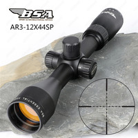 BSA Essential AR 3 12X44 SP Hunting Optics Riflescopes Side Parallax Mil Dot Reticle Air Gun Rifle Scope with Metal Lens Cover
