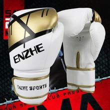 d3d39f618 Alta qualidade de ouro luvas de boxe sanda karate taekwondo luvas de  perfuração guantes de boxeo muay thai mitts luva látex espu.