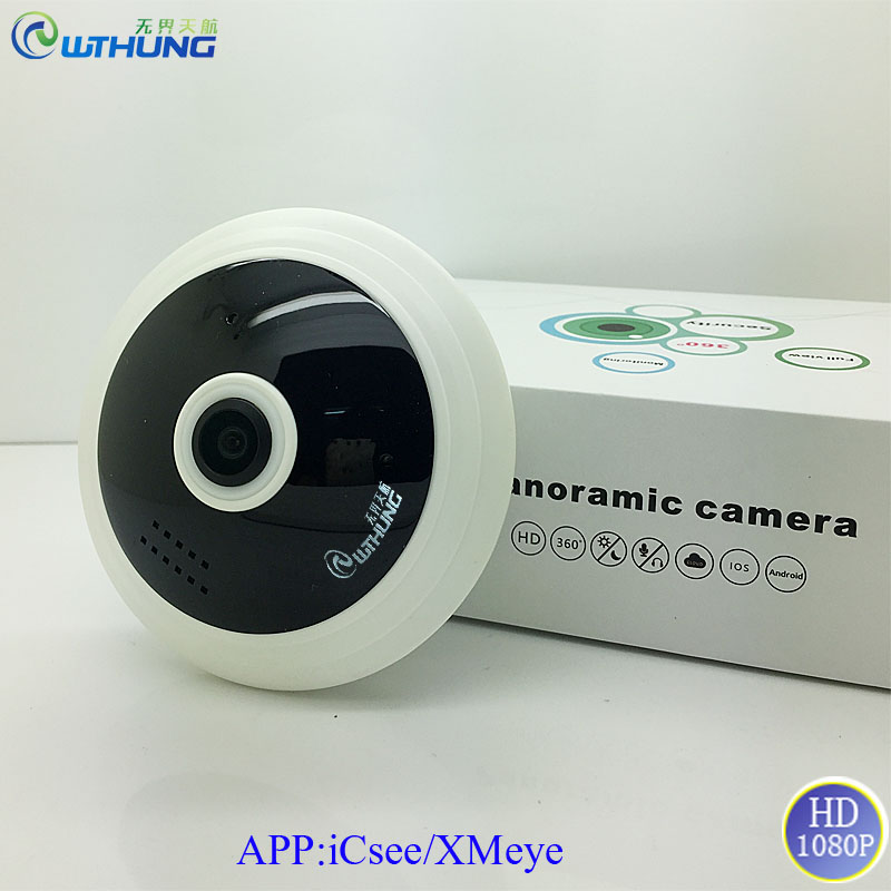 Wireless wifi IP Camera 1080P 3D VR Panoramic 360 Degrees Fisheye lens With SD card Slot Motion detector infrared night vision