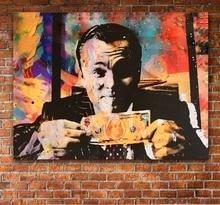 HD холст печать дома стены декор искусство печать волк стены улица деньги переговоры абстрактная картина в рамке холст стены книги по искусству непобедимый