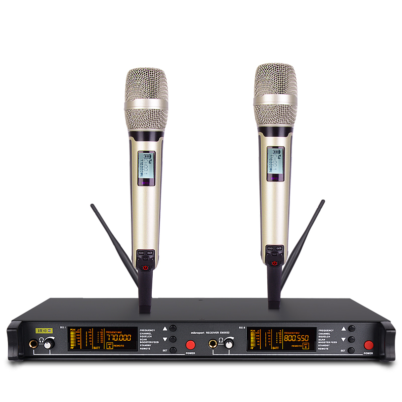 Professional Dual Wireless Microphone for SKM9000 Stage Wireless Systems 2 Handheld For church singing school meeting