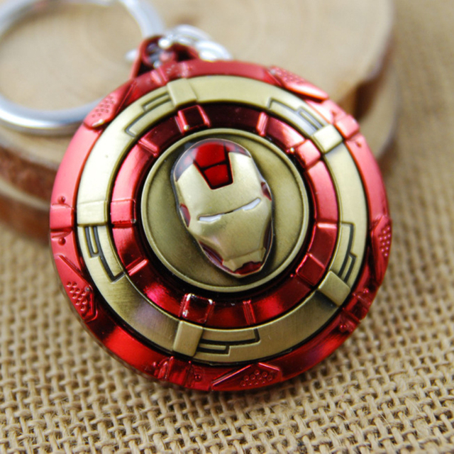 Mavel Avengers Ironman Captain America Shield Action Figure Metal Keychain Toy Pendant Chaveiro Stainless Steel Key Ring Toy
