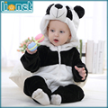 0-24 Month 3D Panda Cute Animal Kids Sleepwear Soft Flannel Children's One-piece Footed Pajamas Baby Boys Girls Sleepwear