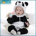 0-24 Month 3D Panda Cute Animal Kids Sleepwear Soft Flannel Children's One-piece Footed Pajamas Baby Boys Girls Sleepwear