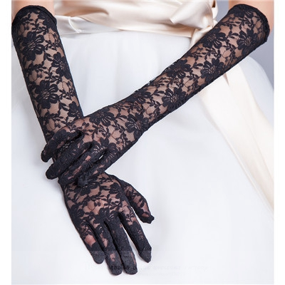 wedding gloves2018 long paragraph Korean Bridal Wedding Gloves lace black, red, ivory, white wedding gloves wholesale