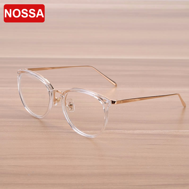 b3d862ecd5d NOSSA Big Frame Eyewear Women s Optical Glasses Frame Men s Myopia Glasses  Frames Round Transparent Vintage Glasses Goggles