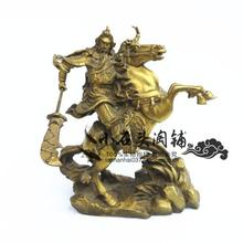 A horse like the statue of Guan Gong Guan copper ornaments knife Zhaocai Fortuna Wu bronze decoration house decoration