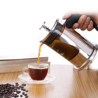 Europe Creative Stainless Steel Tea Pot Coffee Household Glass Tamper Cold Brew Coffee Espresso Cups Teapot Coffee Pitcher 5