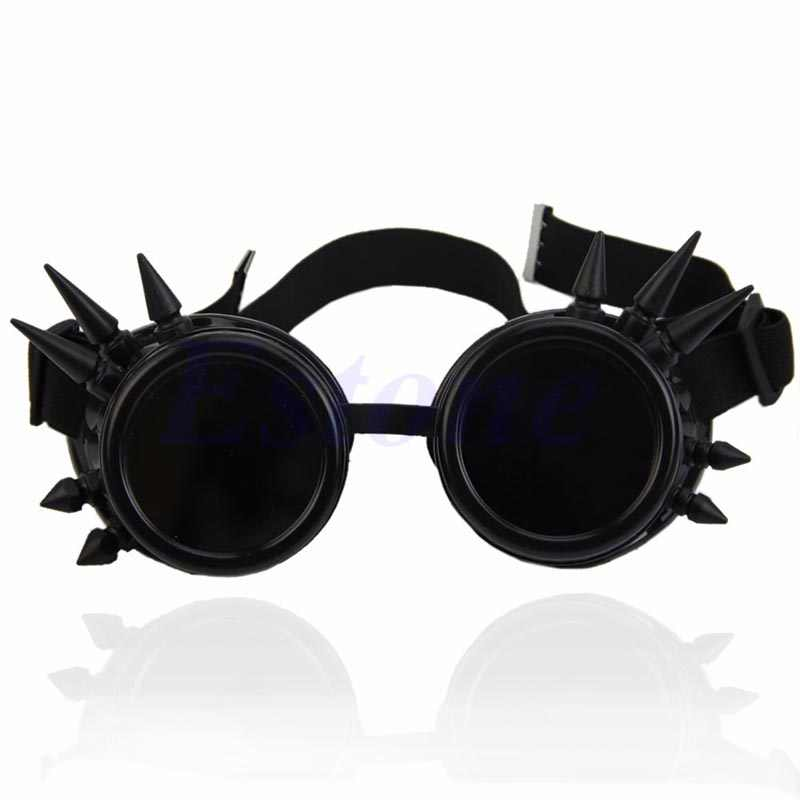 Victorian Gothic Cosplay Rivet Steampunk Goggles Glasses Welding Punk