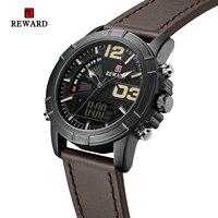 시계 알람 주간 날짜 듀얼 디스플레이 군사 시계 등산 스포츠 시계 손목 시계 망 RD63092M