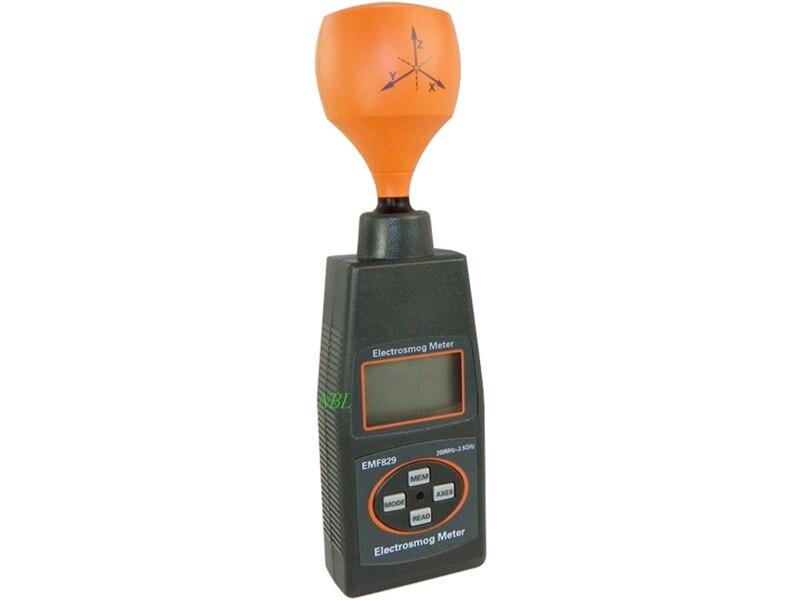 Профессиональная цифровая electrosmog метр Портативный agnetic высокая частота поле интенсивность метр индикатором ЭДС тестер с Вышивка Крестом Па...