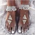 Pameng 1 Pcs Boho Bohemian Tornozeleira Para As Mulheres Borla Sino Tornozeleira Moda Barefoot Sandálias Pé Jóias Pulseras