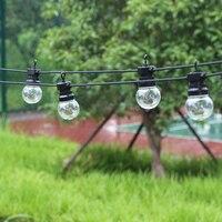 13m 20 Bulb Led Globe String Light Christmas G50 Fairy Patio Garden Party Wedding Backyard Street Outdoor Decoration Light