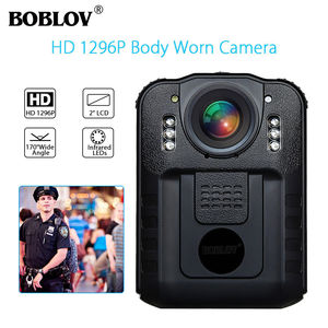 Image 1 - BOBLOV WN9 Wearable Body Worn Camera Novatek 96650 HD 1296P Police Cam 170 Degree 2 Inch Screen Security Police Camera
