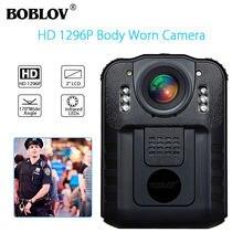 BOBLOV WN9 giyilebilir vücuda takılan kamera Novatek 96650 HD 1296P polis kamera 170 derece 2 inç ekran güvenlik polis kamerası