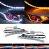 2x Car Flow LED Daytime Running Light DRL Turn Signal For Mitsubishi ASX Lancer 9 10