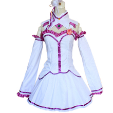 Brdwn RE Zero Life in a Different World from Womens Emilia Daily Cosplay Costume Dress