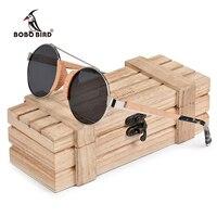 BOBO BIRD Wood Sun glasses Children Eye wear Stainless Steel Frame with Bamboo Gift Box OEM