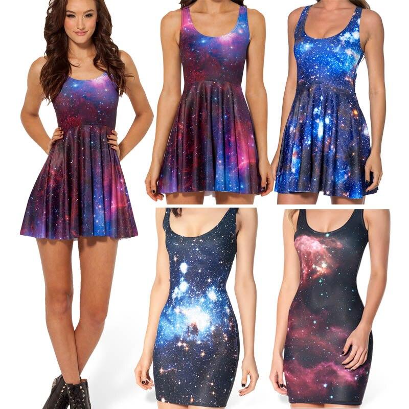 Aliexpress.com : Buy Women Casual Dress 2015 New Sexy Galaxy Dress ...