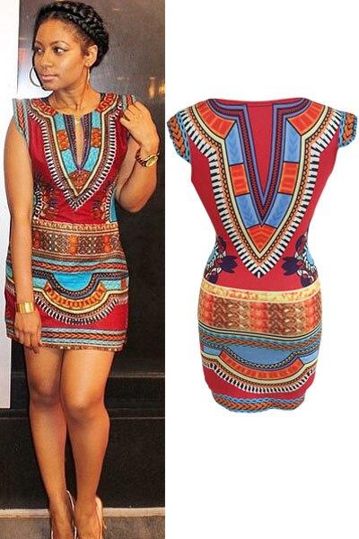 New Fashion Sexy Nigerian Style Women Summer Dress Celeb