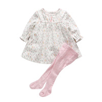 2016 Baby Girl Clothing Sets 0 12M Autumn Girls Suit Set Cartoon Small Floral One Piece