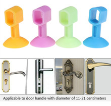 2pcs Doorknob Wall Mute Crash Pad Cushion Cabinet Door Handle Lock Silencer Attached Silicone Anti-collision House Door Stopper 3pcs self adhesive silicone door handle knob crash pad wall protectors anti collision bumper guard door stopper stops stick