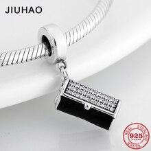 Женская сумочка CZ подвески 925 пробы Серебряный клатч Подвески подходят к оригинальному браслету Pandora ожерелье DIY Изготовление ювелирных изделий