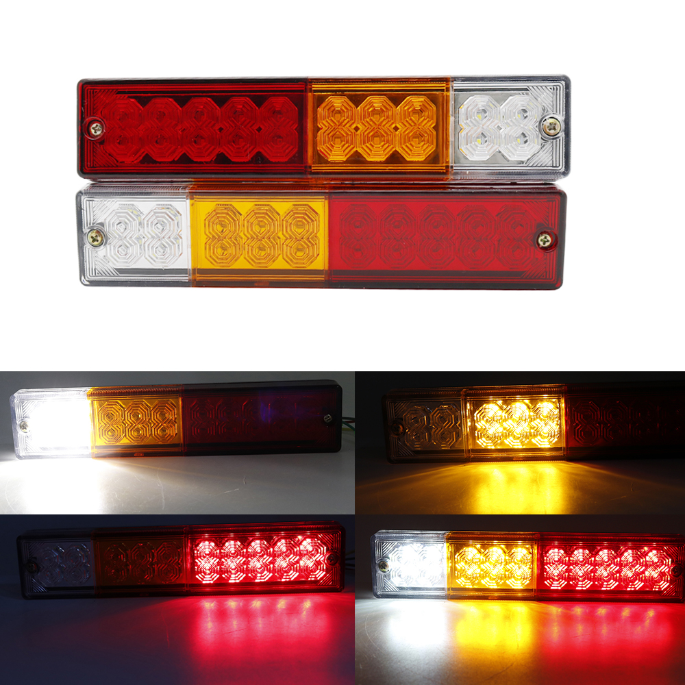 Waterproof 20leds Atv Trailer Truck Led Tail Light Lamp Yacht Car Taillight Reversing Running Brake Turn Lights 12v Atv,rv,boat & Other Vehicle
