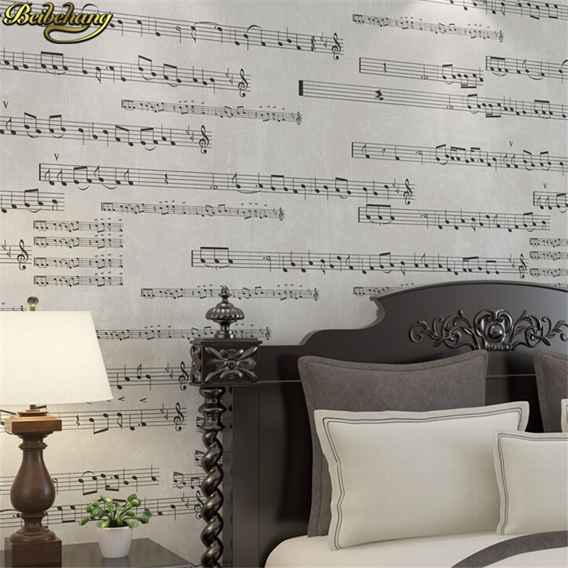 beibehang Musical notes papel de parede 3d mural wallpaper for walls 3 d bedroom backdrop wall paper roll Living room flooring beibehang custom marble pattern parquet papel de parede 3d photo mural wallpaper for walls 3 d living room bathroom wall paper