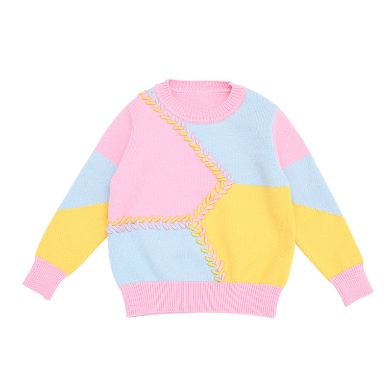 Children Choses 2017 Fashion Baby Boys Girls Knitted Sweaters Clothes Candy Color Sweaters Fashion Baby Sweaters Clothes pink solid color off shoulder crop bodycon sweaters vests
