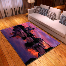 Nordic Carpet 3D Print Area Rug Anti-slip Large for Living room Bedroom Children Kitchen Floormat Absorb Water Home Decor