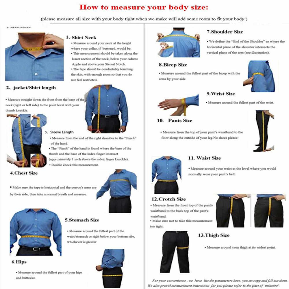 新しい到着スリムフィット新郎タキシード男性スーツセットダブルブレスト(ジャケット+パンツ)メンズスーツのための結婚式ウエディングカジュアルブレザー正規