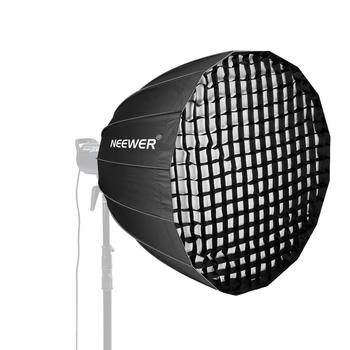 Neewer 28/38/48 inches Deep Parabolic Softbox with Bowens Mount Removable Internal&External Diffuser and Grid+Softbox Diffuser