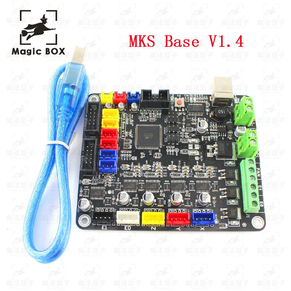 3D Printer parts MKS Base V1.4 3D Printer Control Board With USB Mega 2560 R3 Motherboard RepRap Ramps1.4 Compatible 1 latest 3d printer mks gen v1 4 control board mega 2560 r3 motherboard reprap ramps1 4 compatible with usb for 3d printer