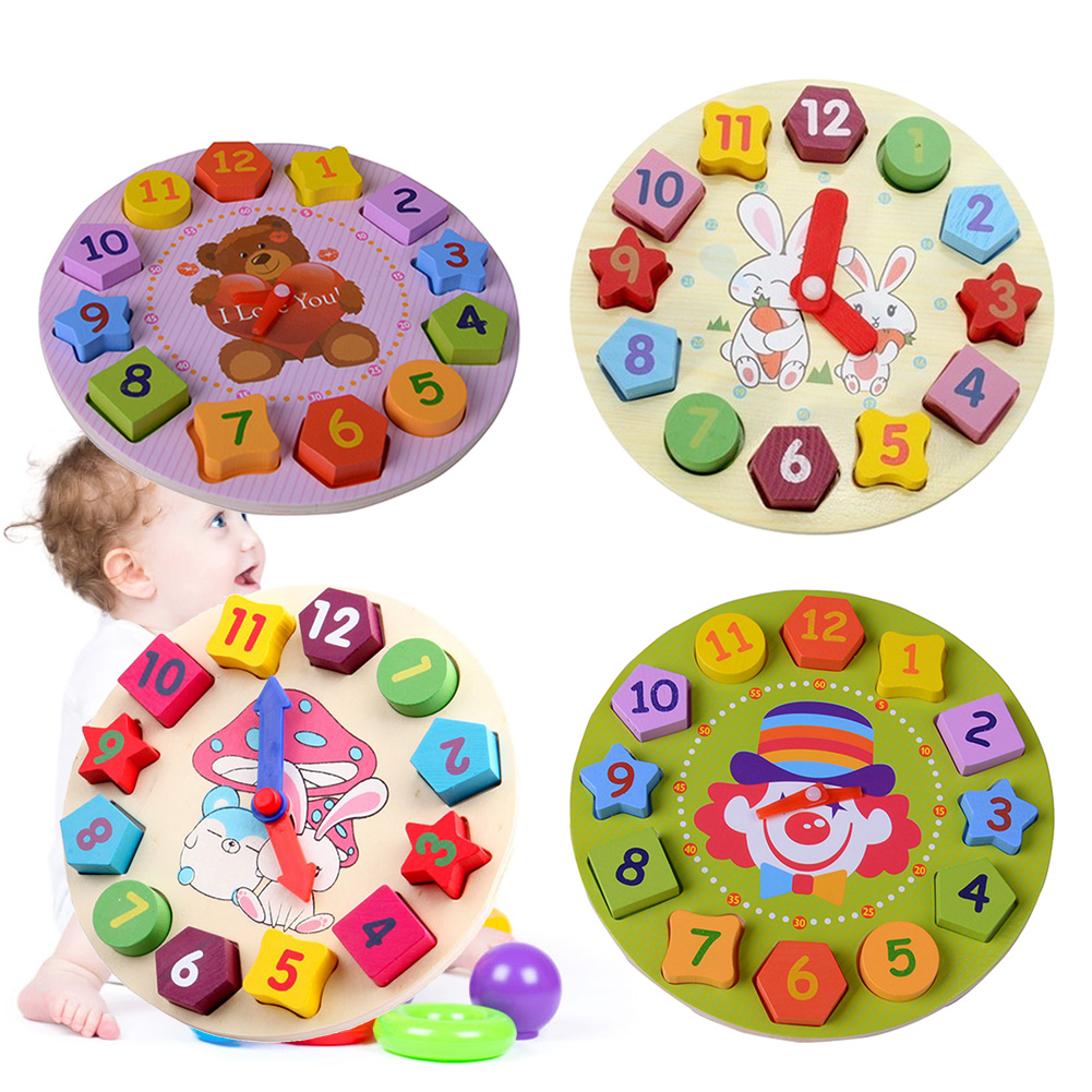 Toys & Hobbies Wooden Toys Baby 3d Puzzle Early Learning Clock Animal Puzzle Lacing Beads Jigsaw Puzzles For Children 2-4 Years Me2622h
