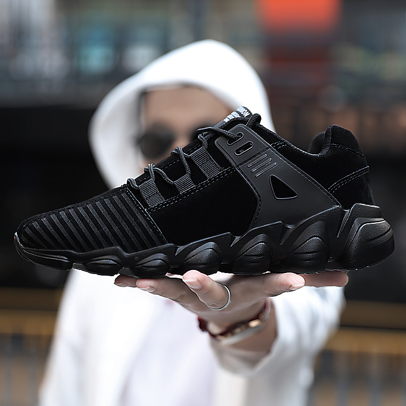 Mens Designer Trainers Casual Shoes For Men Comfortable Shoes Autumn/winter Warm Black Yellow Casual Male Shoes Plus Size