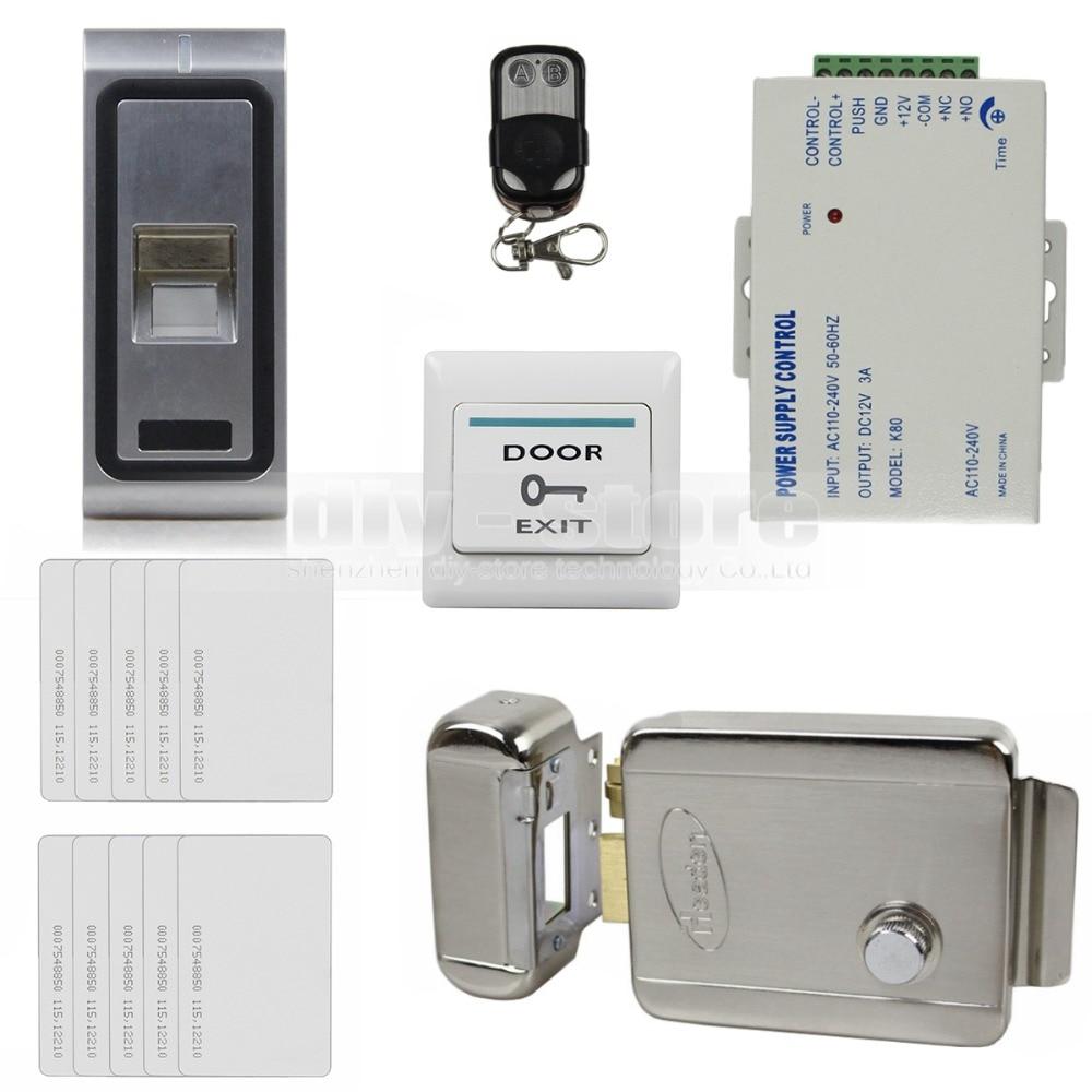 Diysecur remote control fingerprint 125khz rfid id card for Door access controller