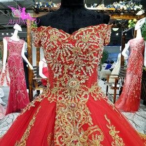 Image 2 - AIJINGYU robes de mariée à manches longues en dentelle et Tulle robes de mariée musulmanes avec prix 3 en 1 porter robe de mariée de grande taille corée