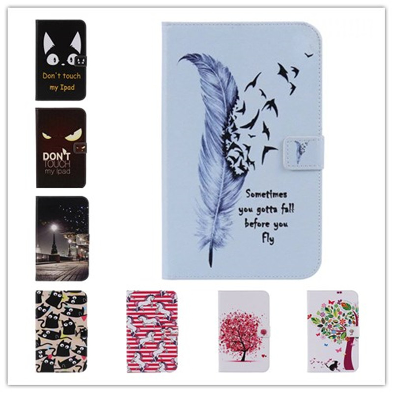 Fashion Flower Cartoon Animal horse PU Leather Stand Flip Smart Case For Samsung Galaxy Tab S2 8.0 T710 T715 Tablet Book Cover