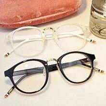Fashion Retro Round Spectacle Eyeglasses Frame Transparent Men Women Optical Myopia Glasses Computer Eyeware 2018