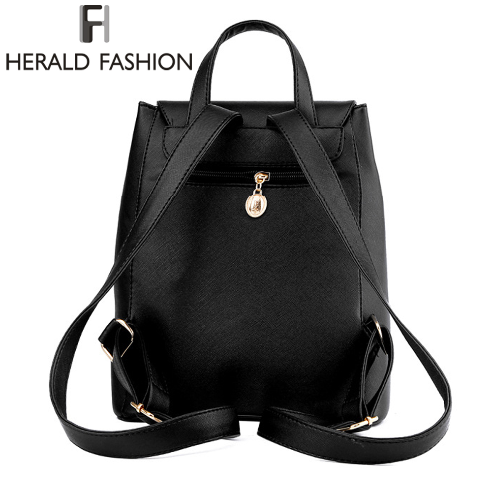 Women Backpack High Quality Pu Leather Mochila Escolar School Bags For Teenagers Girls Top-handle Backpacks Herald Fashion #6