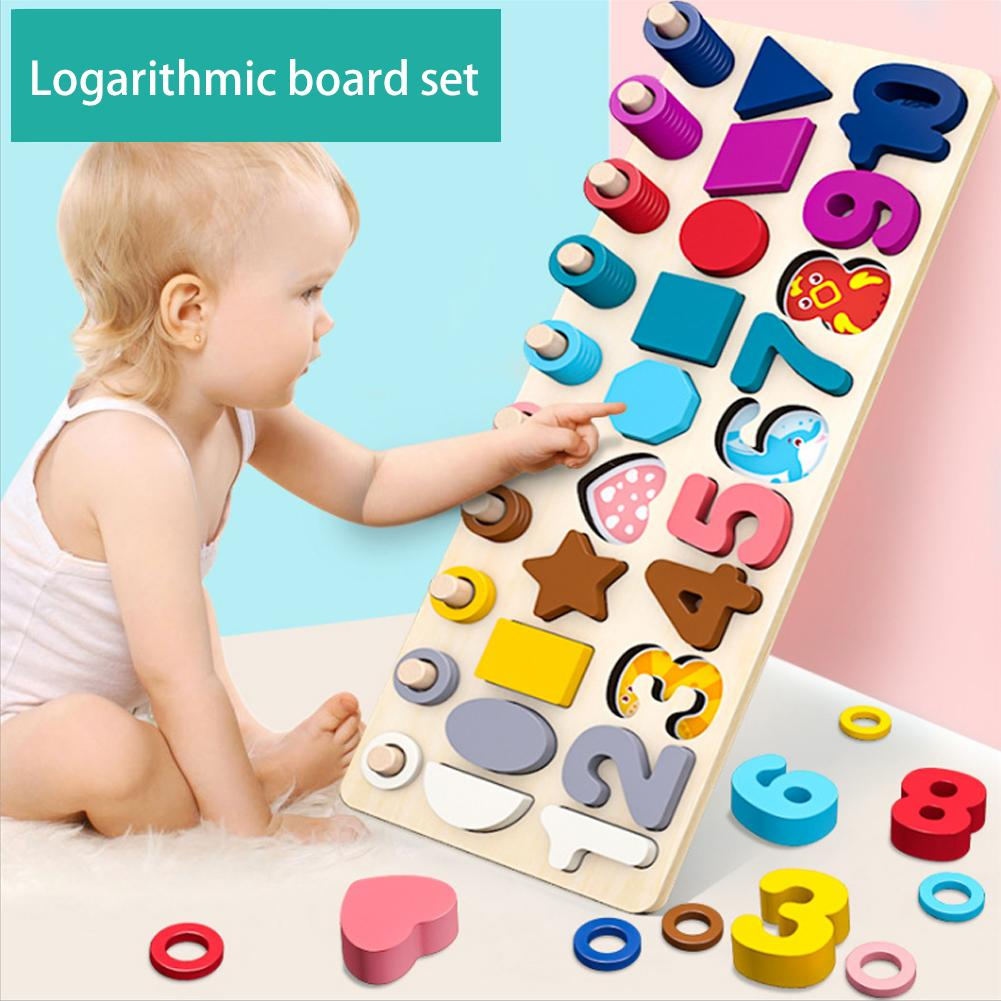 Shape Three-in-one Pair Board 2-3 Baby Young Children Toy Digital Building Blocks Educational Toys Children Gift Christmas