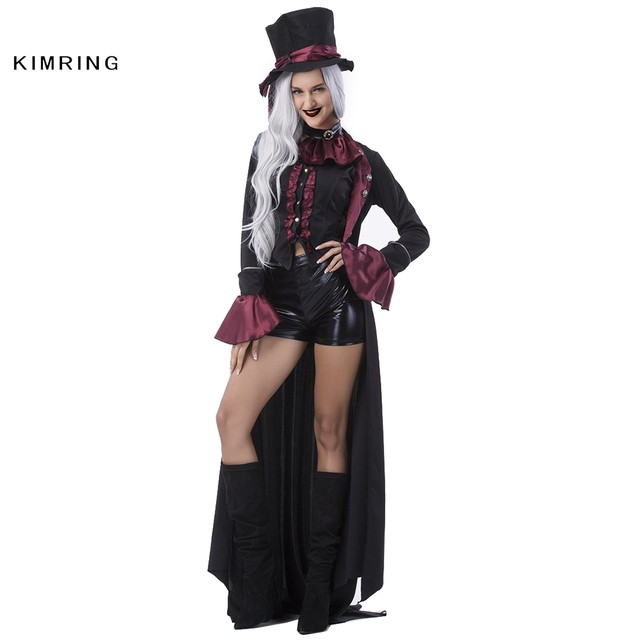 Kimring Deluxe V&ire Costume for Women Sexy Gothic Halloween Costume Adult Fantasia Masquerade Party Halloween Cosplay  sc 1 st  AliExpress.com & Kimring Deluxe Vampire Costume for Women Sexy Gothic Halloween ...